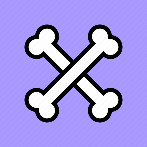 bones, caution, crossbones, danger, death, poison, skeleton icon