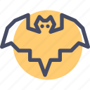 bat, bird, halloween icon