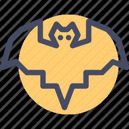 bat, bird, halloween icon