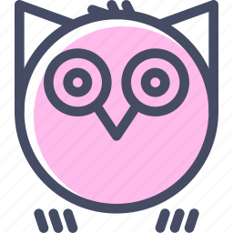bird, halloween, hoot, horror, night, owl, spooky icon