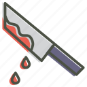 blood, halloween, horror, knife, murder, party icon