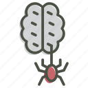 brain, halloween, horror, spider, spooky, zombie icon