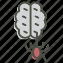 brain, halloween, horror, spider, spooky, zombie