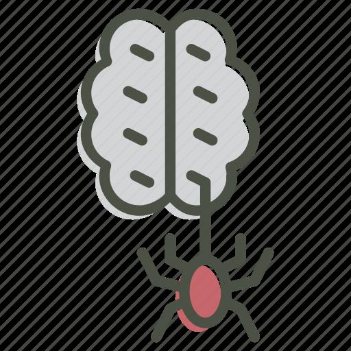 brain, halloween, horror, spider, spooky, zombie icon