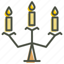 candelabra, candle, halloween, light, stand, wax