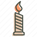 candle, halloween, light, wax icon