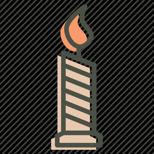 candle, halloween, light, wax icon