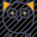 bird, halloween, hoot, horror, night, owl, spooky