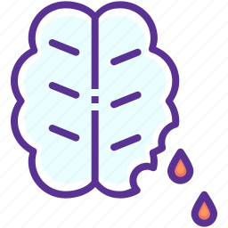 blood, brain, halloween, horror, spooky, zombie icon