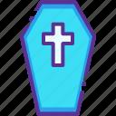 casket, coffin, cross, halloween