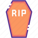 casket, coffin, death, funeral, halloween, rip icon