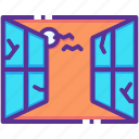 bat, haunted, night, scary, spooky, unhinged, window icon