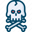 bone, danger, evil, halloween, pirate, scary, skull icon