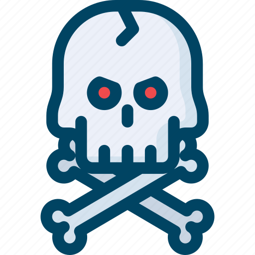 bone, danger, evil, halloween, pirate, scary, skull icon