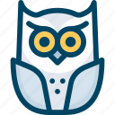 animal, bird, halloween, night, owl icon