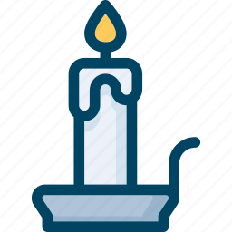 candle, halloween, holder, light, wax icon