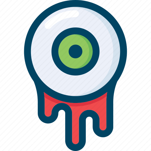 blood, evil, eye, halloween, scary, sight icon