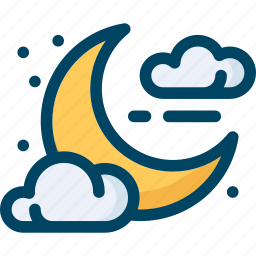 cloud, halloween, moon, night, sky, star icon