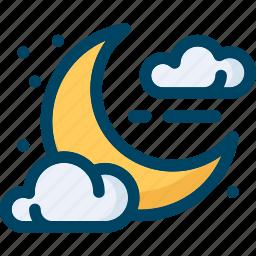 cloud, halloween, moon, night, sky, star icon