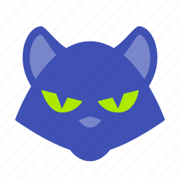 animal, black, cat, halloween, horror, scary, spooky icon