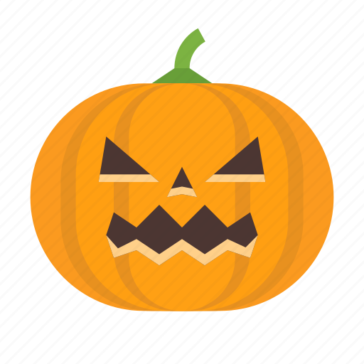 angry, evil, halloween, jack, lantern, o, pumpkin icon