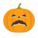 halloween, jack, lantern, o, pumpkin, sad, scary icon