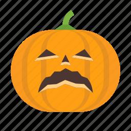 halloween, jack, lantern, o, pumpkin, sad, scary icon
