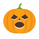 halloween, jack, lantern, o, pumpkin, spooky, surprised icon
