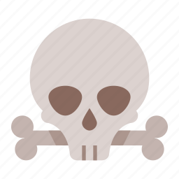 and, bones, dead, death, evil, halloween, skull icon