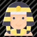egypt, king, man, pharaoh icon