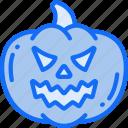 angry, evil, fruit, halloween, jack-o'-lantern, pumpkin icon