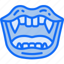 blood, evil, halloween, mouth, teeth, vampire icon