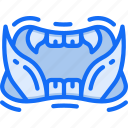 beast, evil, halloween, monster, mouth, teeth icon