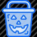 bucket, candy, evil, halloween, sweet, trick or treat
