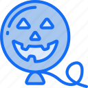 balloon, evil, floating, halloween, smile icon