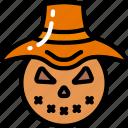 evil, farm, halloween, hay, scarecrow icon