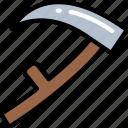 death, evil, grim reaper, halloween, scythe icon