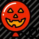 balloon, evil, floating, halloween, smile icon
