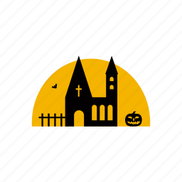 building, castle, death, festival, fortress, halloween, horror icon