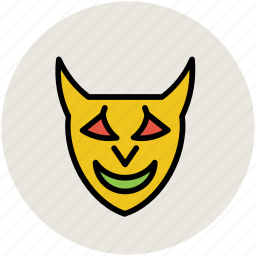 demon, devil, devil face, halloween, halloween mask, spooky face, vampire icon