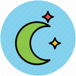crescent, halloween crescent, halloween moon, night, sky moon icon