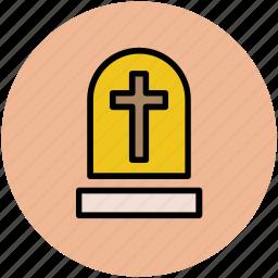 grave, gravestone, graveyard, halloween, headstone, tomb, tombstone icon