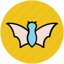 bat, evil bat, ghost bat, halloween bat, horrible icon