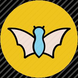bat, evil bat, ghost bat, halloween bat, horrible icon