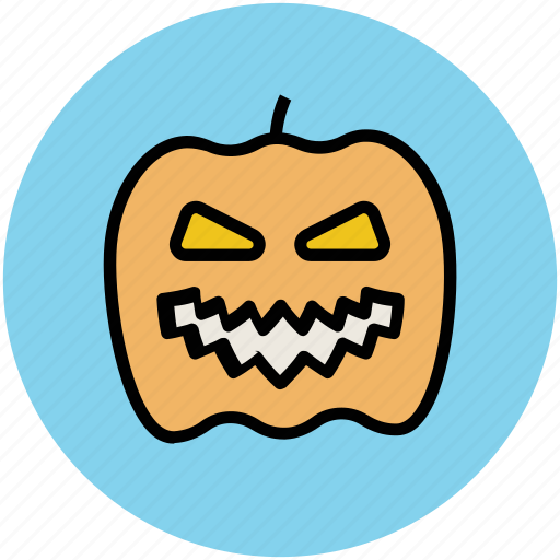 halloween, halloween face, pumpkin horror, pumpkin skeleton icon