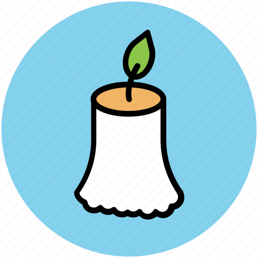 burning candle, candle, candle light, halloween candle icon