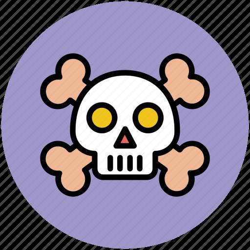 cross bones, ghost face, halloween, skull, spooky face icon