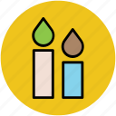 burning candles, candle light, candles, halloween candle icon