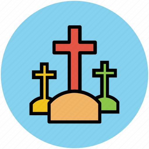 burial ground, cemetary, funeral, grave, graveyard icon
