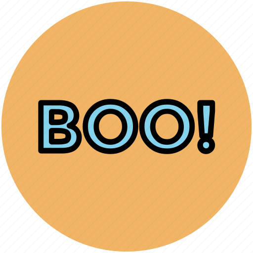 boo, boo symbol, halloween, halloween boo, horror symbol icon